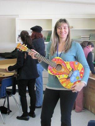 Teacher's First Guitar!