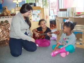 When friends learn to strum & sing...