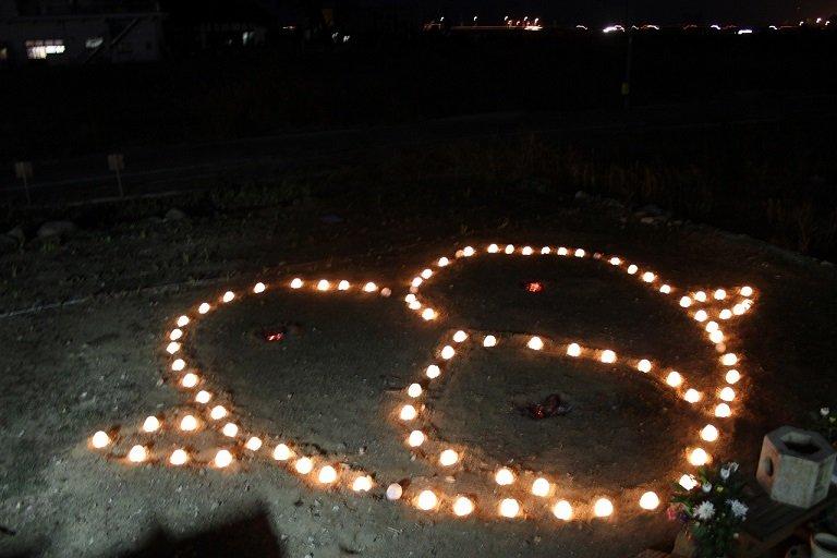 Lantern vigil in honor of those lost 3 years ago.