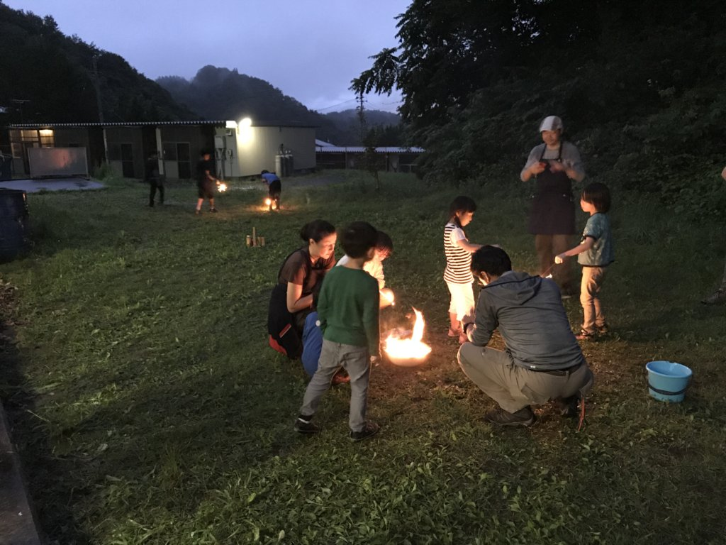 Children prepared fireworks