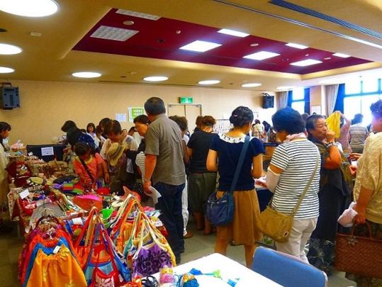 Handicrafts market, Hands-on exhibit in Ishinomaki