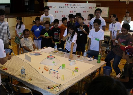 Children giving a presentation of their plan