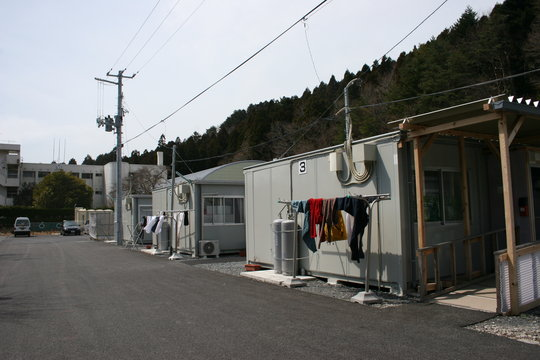 One temporary housing compound where JEN works