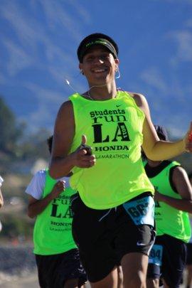 SRLA Student Running the 18-Mile Friendship Run