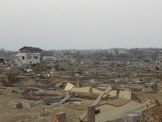 A devastated fishing village