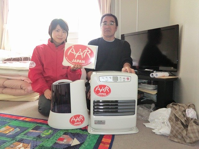 Delivery of a heater and a humidifier