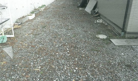 The ground before the pavement construction