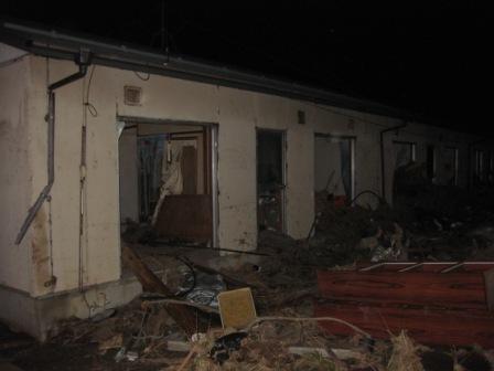Tsunami bulled through this house in Yamamoto