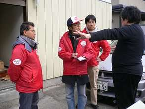 AAR JAPAN's Emergency Relief Team in Sendai City
