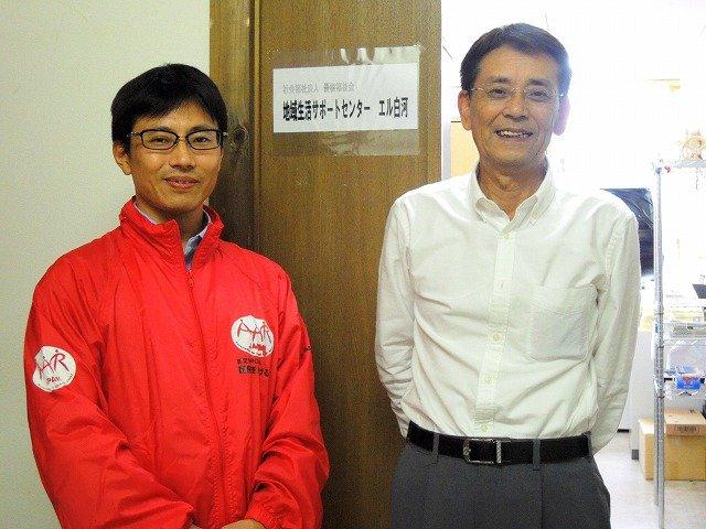 Mr. Suganuma(right) representative of the facility