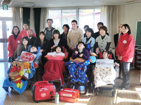 Delivery of generators (Morioka City, Iwate Pref.)