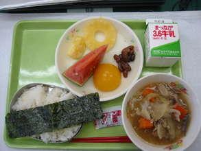 Lunch menu in July (2011, Fukushima Prefecture)