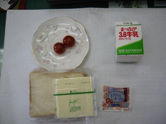 Lunch menu in May (2011, Fukushima Prefecture)