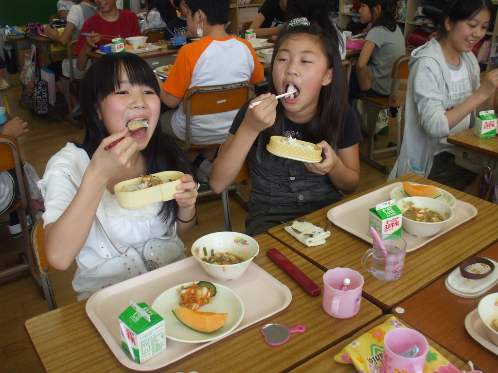School lunch 2 (July 2011, Fukushima Prefecture)