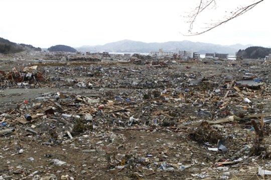 Minami-Sanriku Town after the Tsunami
