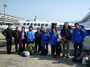 Flying to Tohoku
