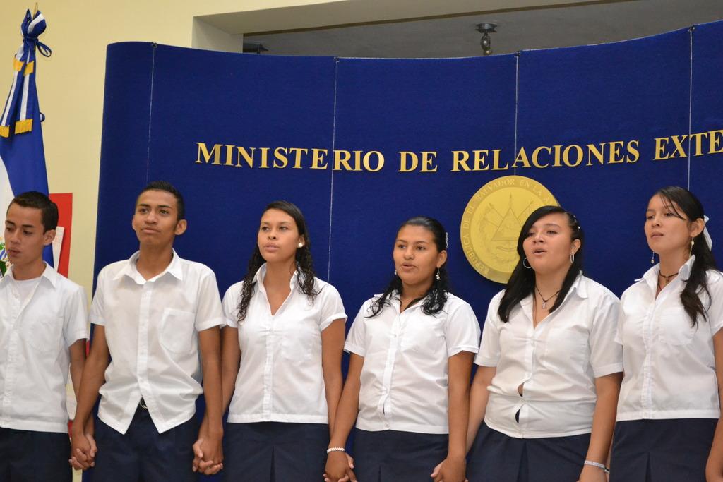 Singing Arirang at the exhibition