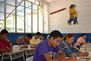 Teachers doing the survey