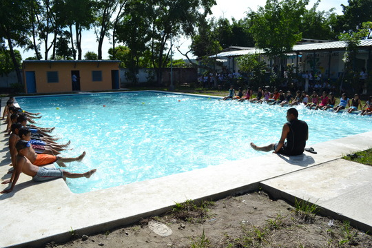BE&swimming classes in the Swimming Pool for Peace
