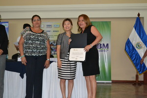 Receiving the Brain Education certificate