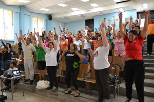 Workshop in the University of El Salvador