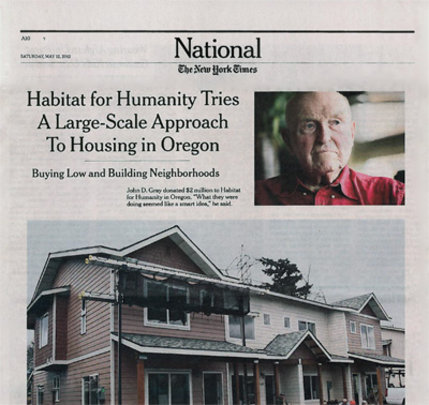 Habitat Tries Big-Scale Approach to Housing in OR