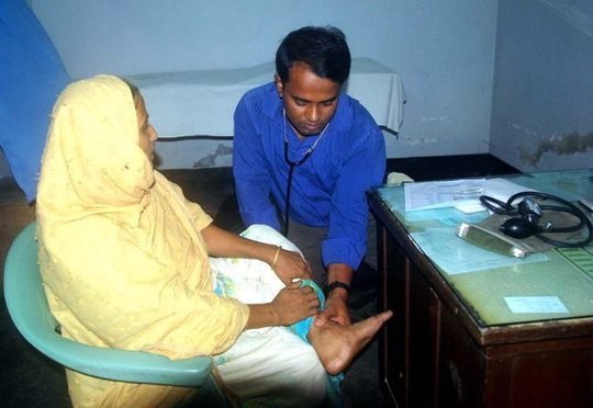 Doctor Examining a Patient.