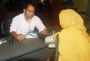 Doctor Examining a Diabetic Patient