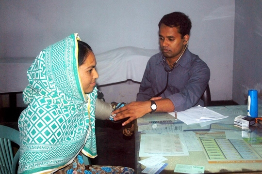 Doctor Examining a Patient