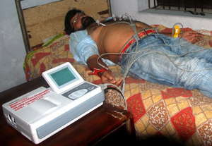 ECG Tests Being Conducted on a Patient
