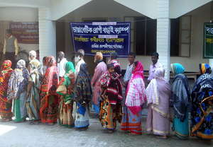Patients waiting for their turn at a Diabetic Camp