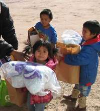 A few of the children helped at the Navajo Mission