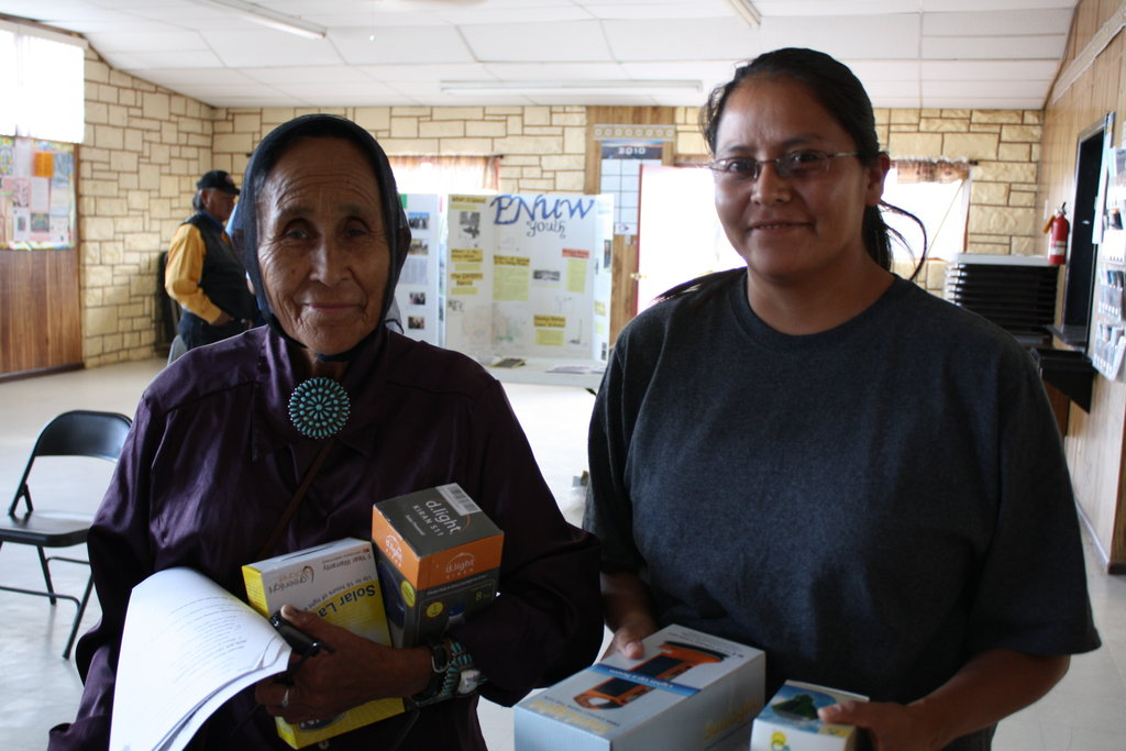 Navajo Women with Solar-Powered Lights