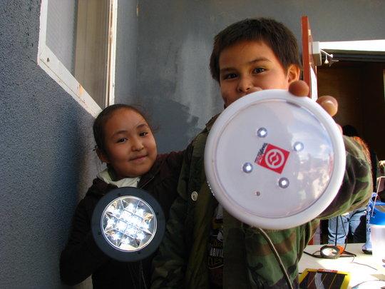 Children and lights