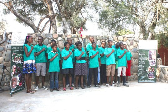 Heritage Day: learners singing the national anthem