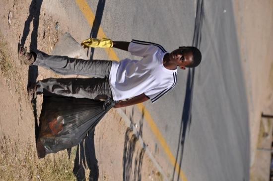 Gad cleaning in Metz Village
