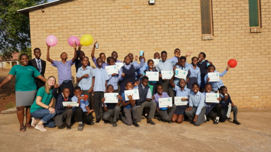 Eco club students with our Outreach Team
