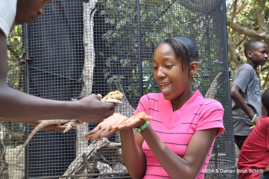 Ashandy at the reptile park
