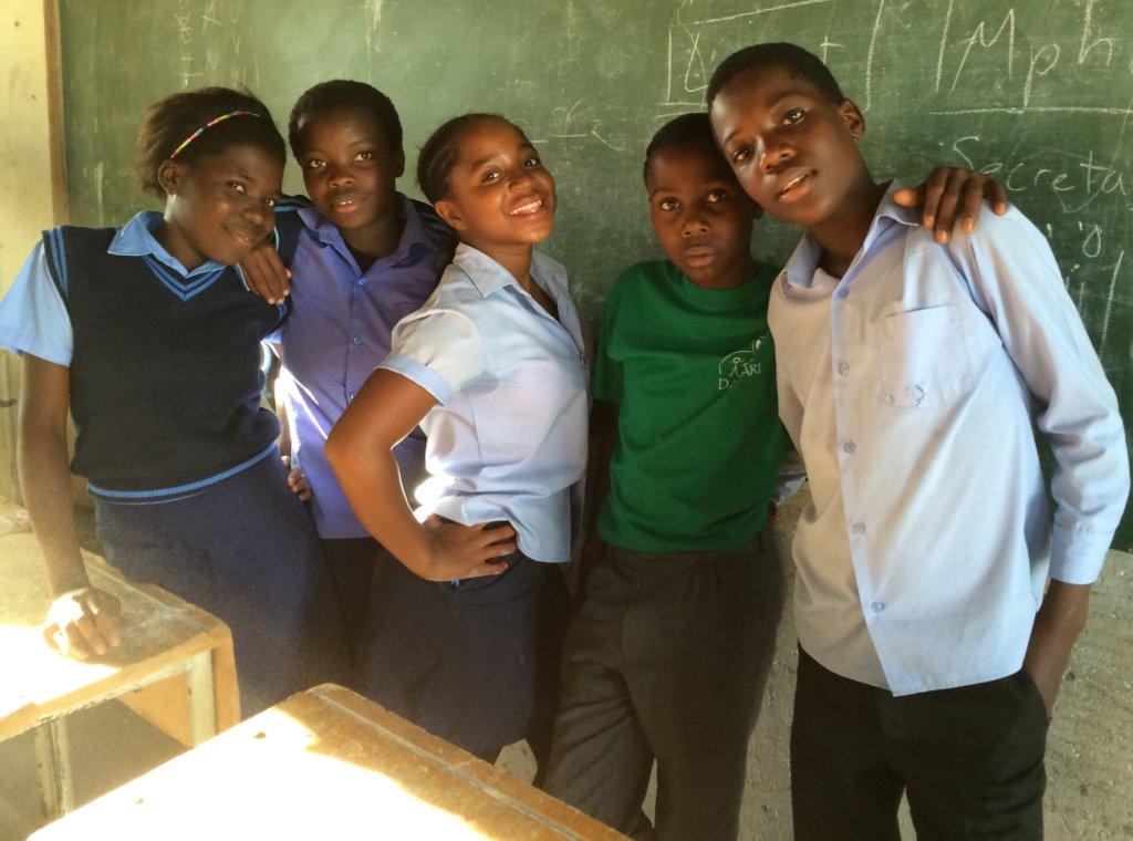The Rakgolokwana Eco Club officers!