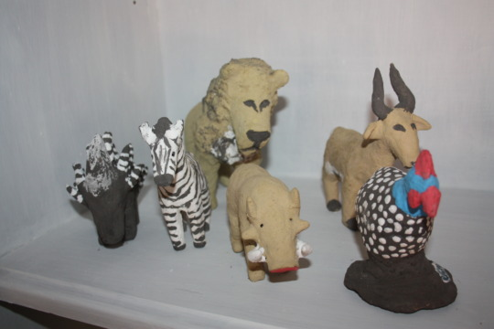 A sampling of their clay animals