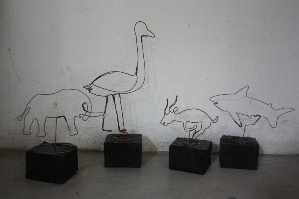 Animals made from Recycled Wire