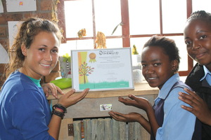 Holding our certificate