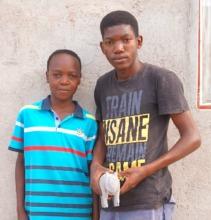 Tebatso (left) and Kagiso