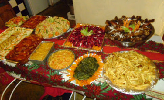 The Christmas feast