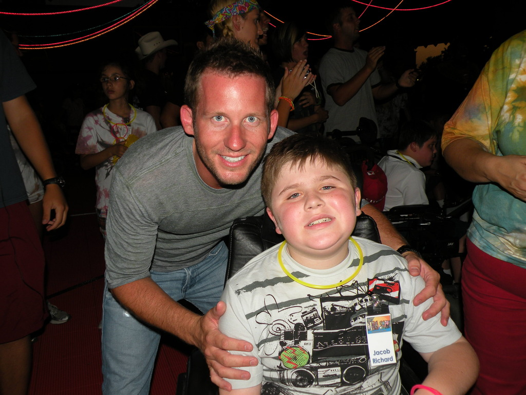 Jake with Tom, Camp director