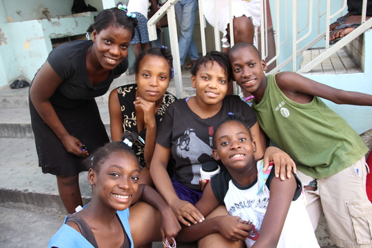St. Vincent's students during our trip in Nov '13