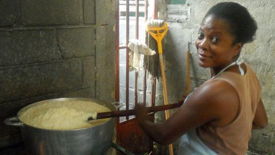 Preparing 40 lbs of rice