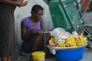 Local banana merchant