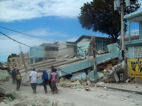 St. Vincent's after the earthquake