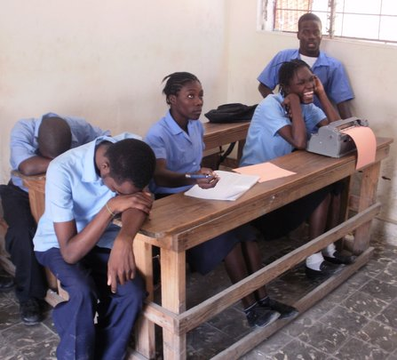 A classroom for blind students